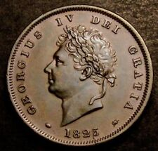More details for 1825 great britain george iv copper penny coin. spink £800 in unc condition.