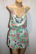 SLIDE SHOW Brand Multicolour Paisley Print w Pockets Playsuit Size 6 BNWT  #Ti24