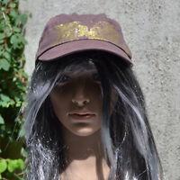 Casquette bonnet gavroche chapeau taille 59 marron doré femme ZAZA2CATS new
