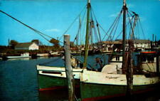 Postcard Commercial Fishing Boats Docks Ocean City MY Unused Chrome