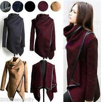Winter Women Slim Wool Warm Trench Coat Long Jacket Outwear Parka Cardigans Tops