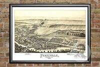 Old Map of Peckville, PA from 1892 - Vintage Pennsylvania Art, Historic Decor