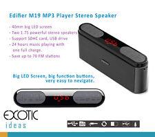 Edifier Mp3 Player Big Led Display 2 Powerful Bass Speaker 70 Fm Sdhc Usb drive