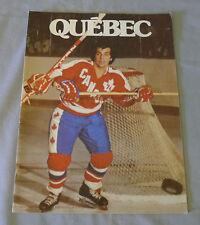 1974-75 WHA Quebec Nordiques vs San Diego Mariners Hockey Program