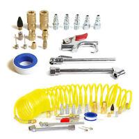 20 Pieces Air Compressor Accessories Kit Tool 25 Ft Recoil Hose Gun Nozzles Set