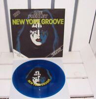 "KISS - SINGLE - 7"" - NEW YORK GROOVE  - PYE - CAN135 - UK - BLUE - VINYL"