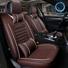 Luxury 5-Seats Car Seat Cover PU Leather Front&Rear SUV Cushion Set Universal