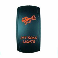 ORANGE DUAL LED BACKLIT ROCKER SWITCH LASER ETCHED 20A 12V LED OFFROAD LIGHTS