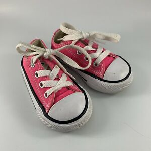 Infant Size 4 Bright Pink Canvas Converse All Star Sneakers/Tennis Shoes