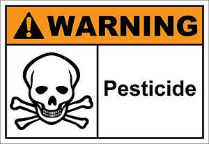 Pesticide Warning OSHA / ANSI LABEL DECAL STICKER
