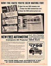 1960 RAMBLER AMERICAN ~ ORIGINAL PRINT AD