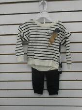 Toddler/Girls Kidtopia 2pc Egret White Long Sleeve Set Sizes 2T - 6X