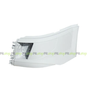 VOLVO VNL 2016-UP NEW BODY PAINTED WHITE CORNER BUMPER LEFT SIDE WITH CUT-OUT