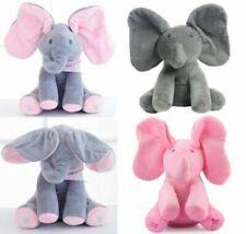 "12"" NEW Peek A Boo Elephant Baby Flappy Plush Peekaboo Toy Singing Kids Doll AU"