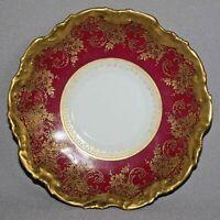 Antique LIMOGES Coiffe Mark 2 1891-1914 FRANCE SAUCER Burgundy Gold