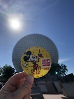 Mickey Mouse 90th Happy Birthday Button 2018 Walt Disney World