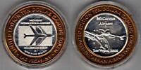 Casino Token: Bi-Metallic: .999 Silver/Brass: McCarran Airport, Las Vegas, 2000