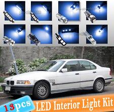 13-pc Blue Canbus LED Interior Light Bulb Package Kit Fit 1992-1998 BMW E36 318i
