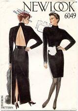 1980's VTG New Look Misses' Dress Pattern 6049 Size 8-18 UNCUT