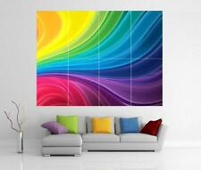 RAINBOW ABSTRACT GIANT WALL ART PRINT POSTER H72