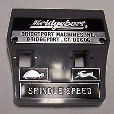 BRIDGEPORT MILL PARTS ITEM 15 - 1478-BP Plastic Face Plate w/Bridgeport Logo