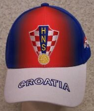 Embroidered Baseball Cap Soccer International Croatia Football Federation NEW