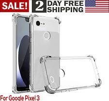 Google Pixel 3 Clear Case Soft TPU Rubber Silicone Phone Cover Smartphone Bumper