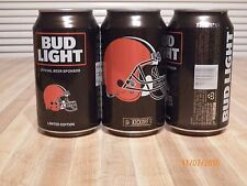 2016 Bud Light Nfl Cleveland Browns 12 oz can bottom opened #665595 beer adult
