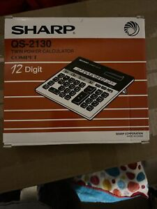 Sharp QS-2130 12-Digit Commercial Desktop Calculator with Kickstand, Arithmetic