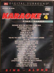 Karaoke Volume 4 DVD - NEW - Sing Along DTS Surround - FREE POST!