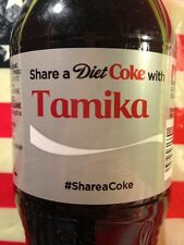 Share A Coke With Tamika Diet Coke Limited Edition Coca Cola Bottle 2014 USA
