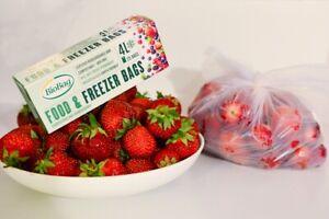 Compostable FREEZER BAG BioBag 4 Litre Kitchen Food Scraps Liner   25 or 75 Bags