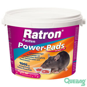 Mäuseköder Mäusegift Rattenköder Rattengift Ratron Pasten Power-Pads 29ppm 1005g