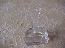 LEAD CRYSTAL  PERFUME BOTTLE WITH BEAUTIFUL DAUBER