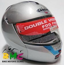 Casco Moto Modular Plateado Silver Helmet Caberg Justissimo Talla / Size XS