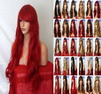 Red Natural Curly Straight Wavy Fancy Dress Cosplay Party Women Ladies Hair Wigs