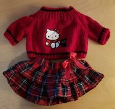 New ListingBuild A Bear Lot of 2 Red Hello Kitty Sweater Plaid Skirt