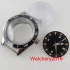 Glass Back Sterile Dial Face Luminous Hands Set Fit NH35A Flate Sapphire Crystal