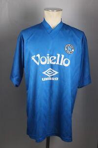 Neapel Trikot Gr. XL napoli Jersey 1992-1993 UMBRO voiello training blau