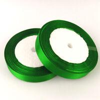 1 Rouleau Ruban Satin Vert 25mm Rouleau de 22m environ Pour vos creation