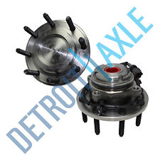 Pair (2) NEW Front Wheel Hub And Bearing Assembly ABS F-350 F-450 Super Duty 2WD