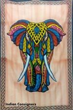 Elephant Stand Multi Twin Tapestry Wall Hanging Cotton  Fabric Bed Cover Hippeee