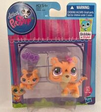 NEW Littlest Pet Shop MAMA TIGER #3593 BABY #3594 + ACCS Bottle & Bow LPS HTF