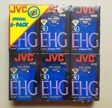 New 6 Pack JVC EHG Hi-Fi VHSC Videocassette TC-30