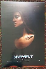 DIVERGENT Movie Poster 27x40 2-Sided Authentic Shailene Woodley