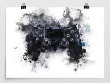 Playstation Games Controller - Wall Art - Games Room - Gaming Poster - Print