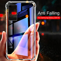 For Samsung Galaxy S20 FE 5G Plus Shockproof Clear Silicone Soft TPU Case Cover