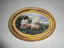The Franklin Mint West Highland White Terriers In The Heather Collector Plate