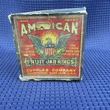 Vintage American 12 Fruit jar Rings in original Box