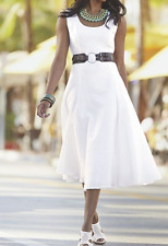 Ashro Sherona White Dress with Belt NEW NWT size 22W PLUS